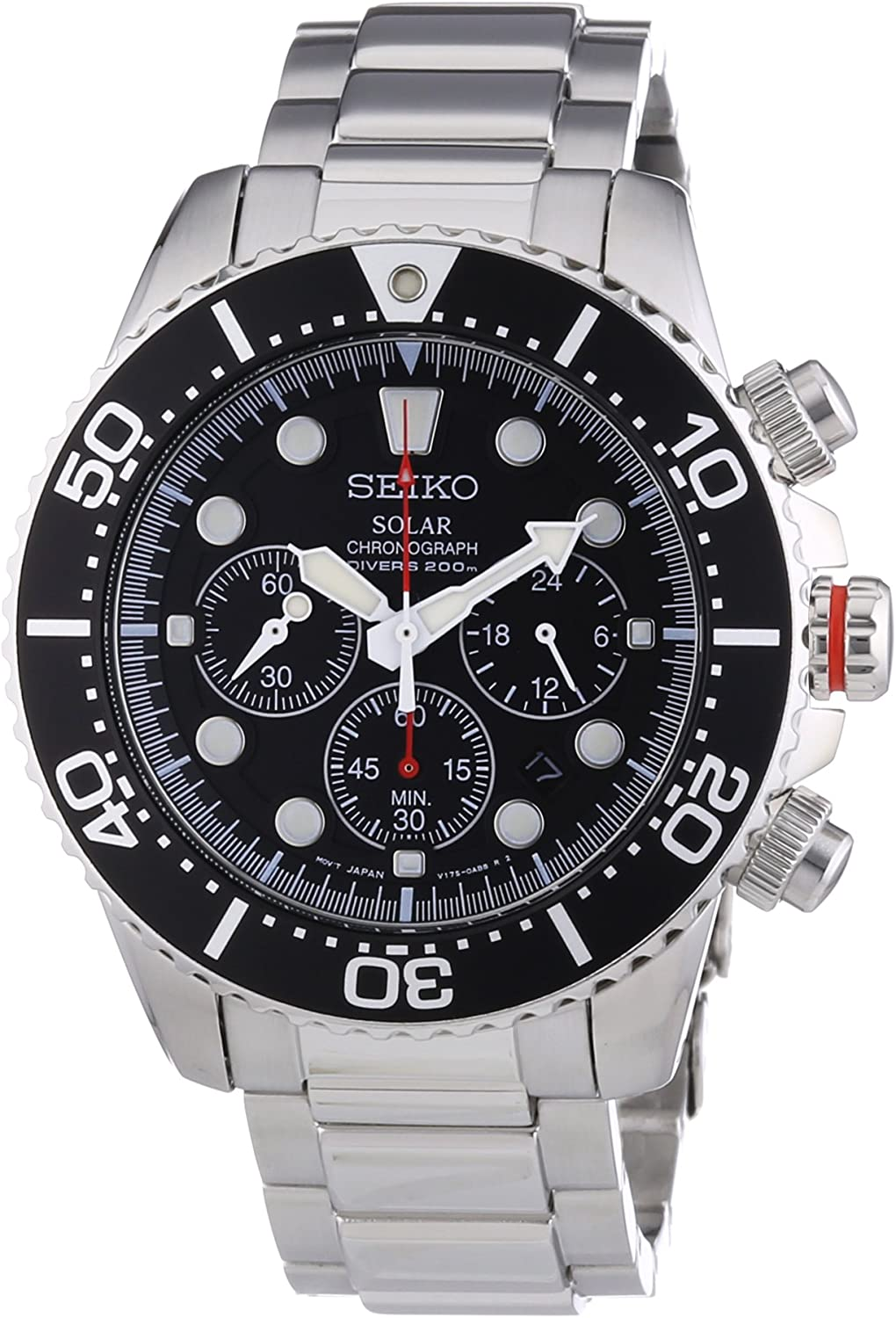 Seiko Men s SSC015P1 Chronograph Solar Power Stainless Steel Watch