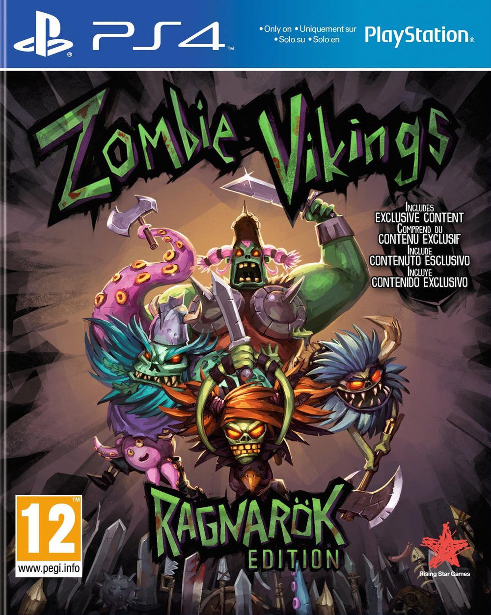 Sony Super Dungeon Bros Ps4 Playstation 4 Jeux Vido Zombie Vikings