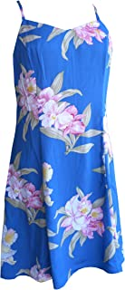 product image for Paradise Found Womens Orchid Corsage Princess Seam Mini Sundress in Blue - XS