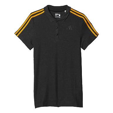 adidas ESS 3S Polo, Hombre, Gris/Naranja (Bkvime/Eqtnar), XS ...