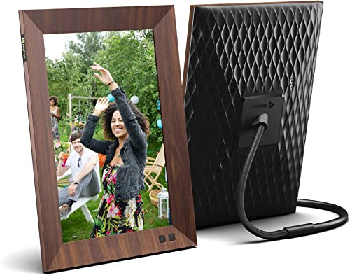 Nixplay Smart Digital Picture Frame 10.1 Inch Wood-Effect – Share Moments Instantly via EMail or App