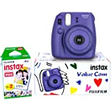 Fujifilm Instax Mini 8 Value Cam Instant Camera - Combo offer (Camera + 20 Instant Films) (Grape)