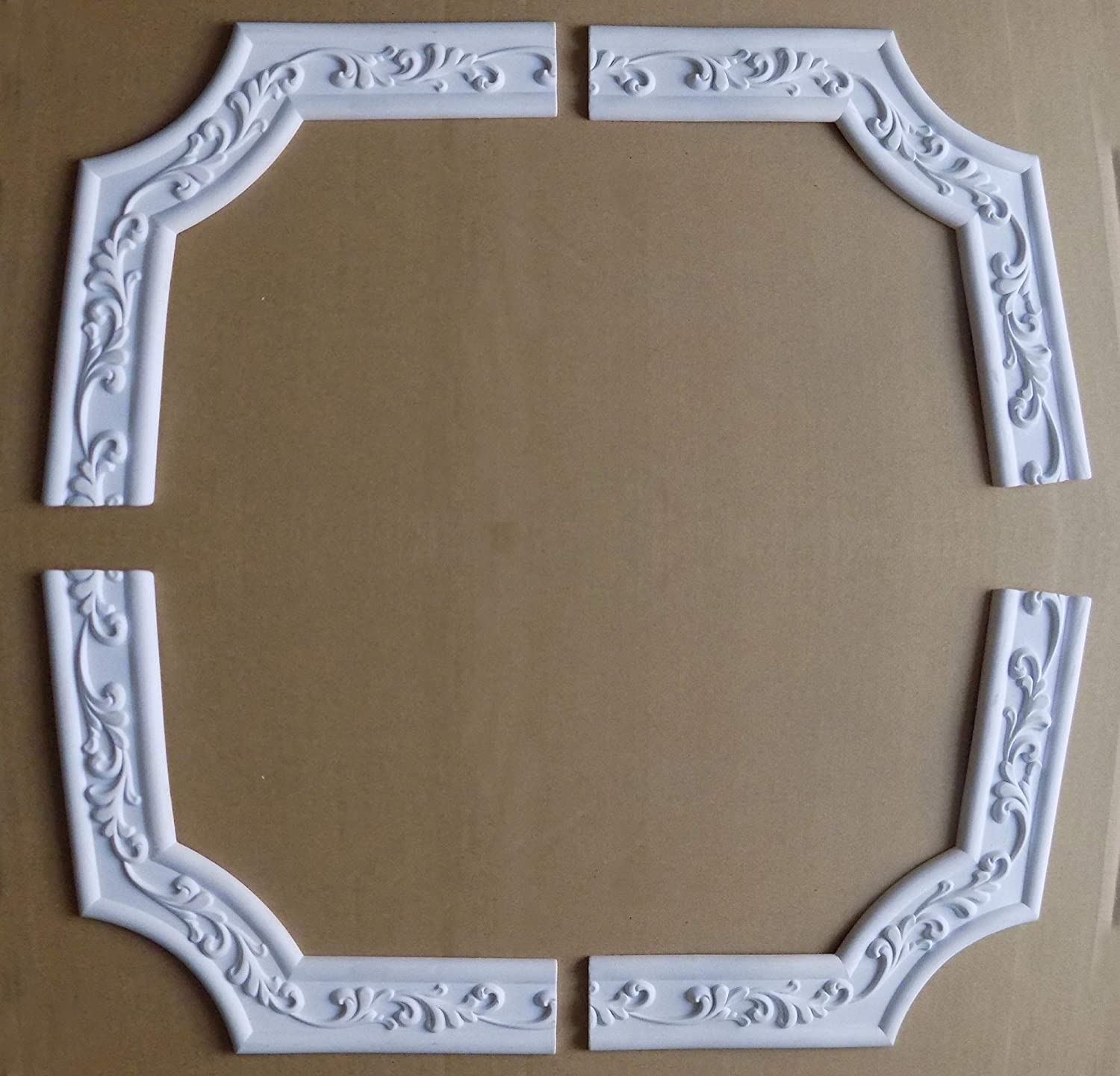 4 Focal Corner 8.4 Home Wall Door Focal Point Corner Flexible Molding Ceiling Trim Rope Waist Mouldings Width 1.8 inch//Thickness 0.31 inch