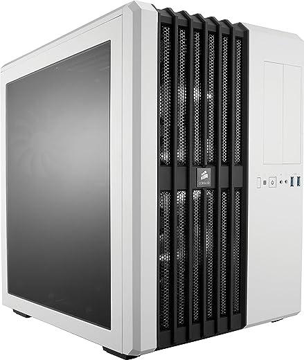 Corsair CC-9011048-WW Carbide Series Air 540 Windowed ATX High Airflow Cube Performance Computer Case with White LED Fan - Arctic White