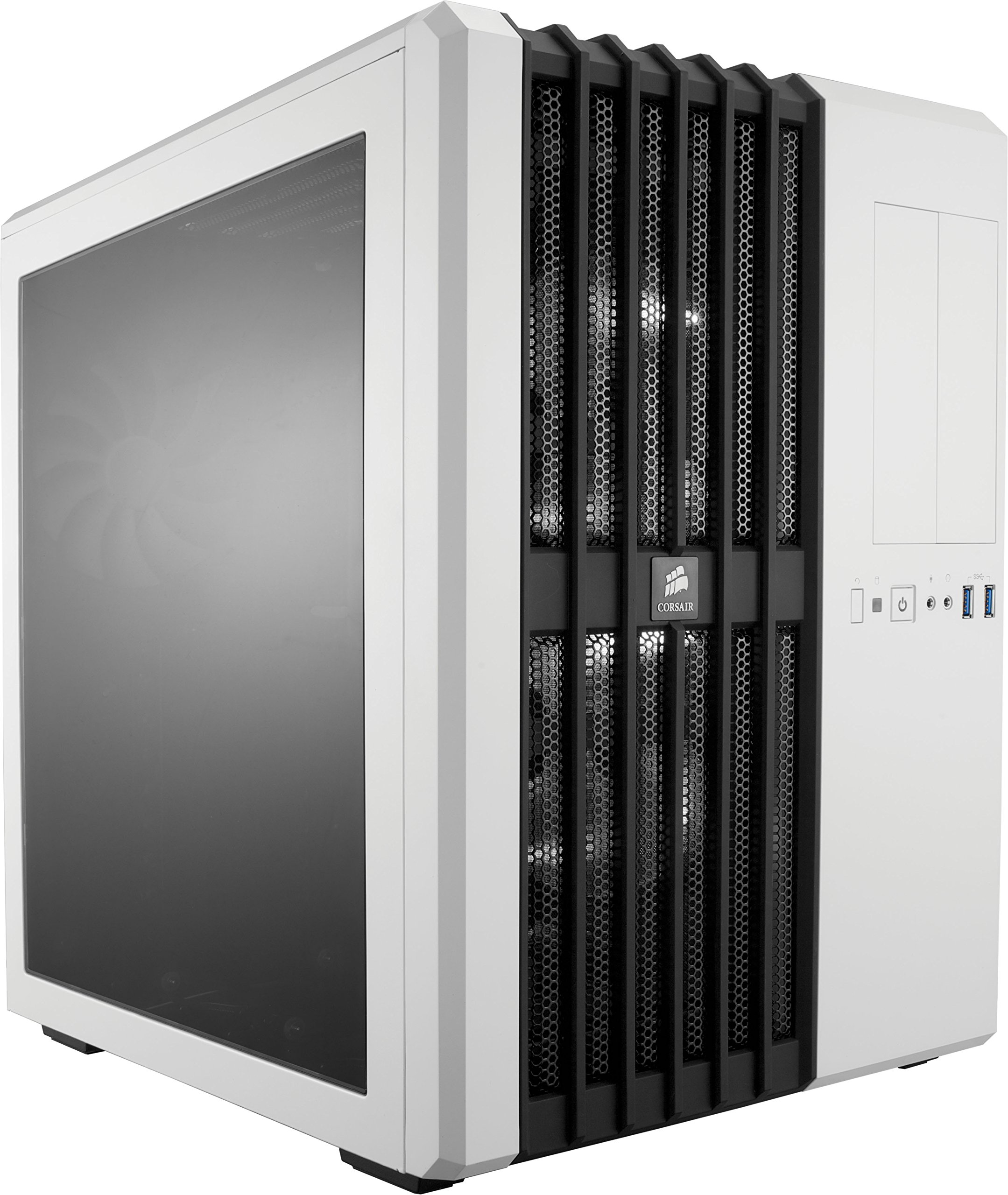 Corsair Carbide Series Air 540 Windowed ATX High Airflow Cube Performance Computer Case with White LED Fan - Arctic White