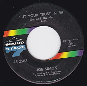 Joe Simon 45vinylrecord Just A Dreamput Your Trust In Me 745