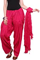 Kurti Studio Women Dark Pink Semi Patiala Salwar with Dupatta