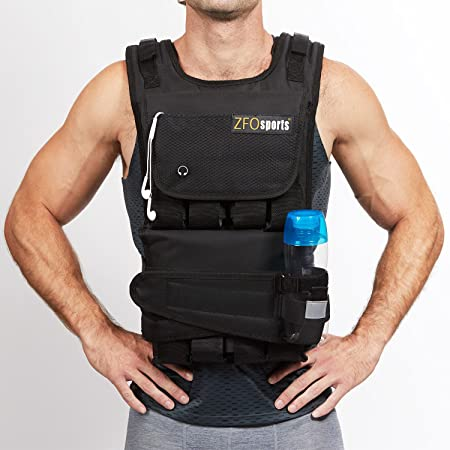 front facing zfosports adjustable weighted vest