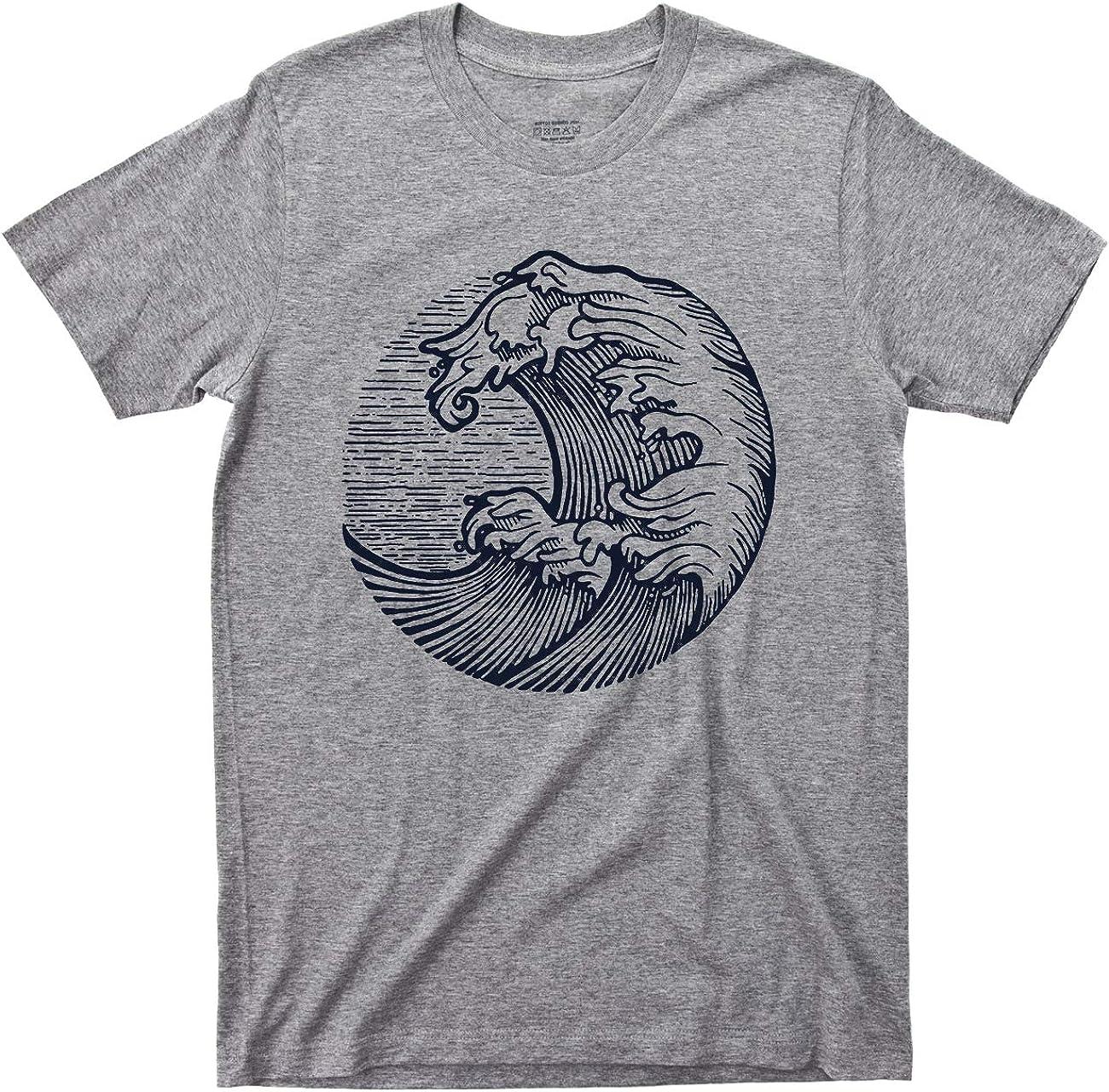 Ocean Waves T Shirt Deep Blue Sea Tee