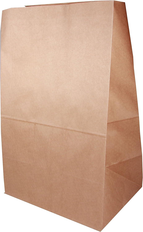 ca Boda Papiert/üte gro/ß Luncht/üte Kraftpapiert/üte XL B 26 x T17 x H34 cm 10 St/ück