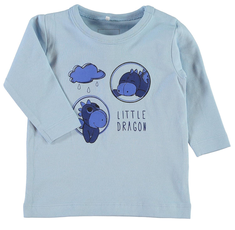 Name It Débardeur - Chemise Longues Manches - Bébé (Garçon) 0 à 24 Mois Bleu Bleu Céruléen