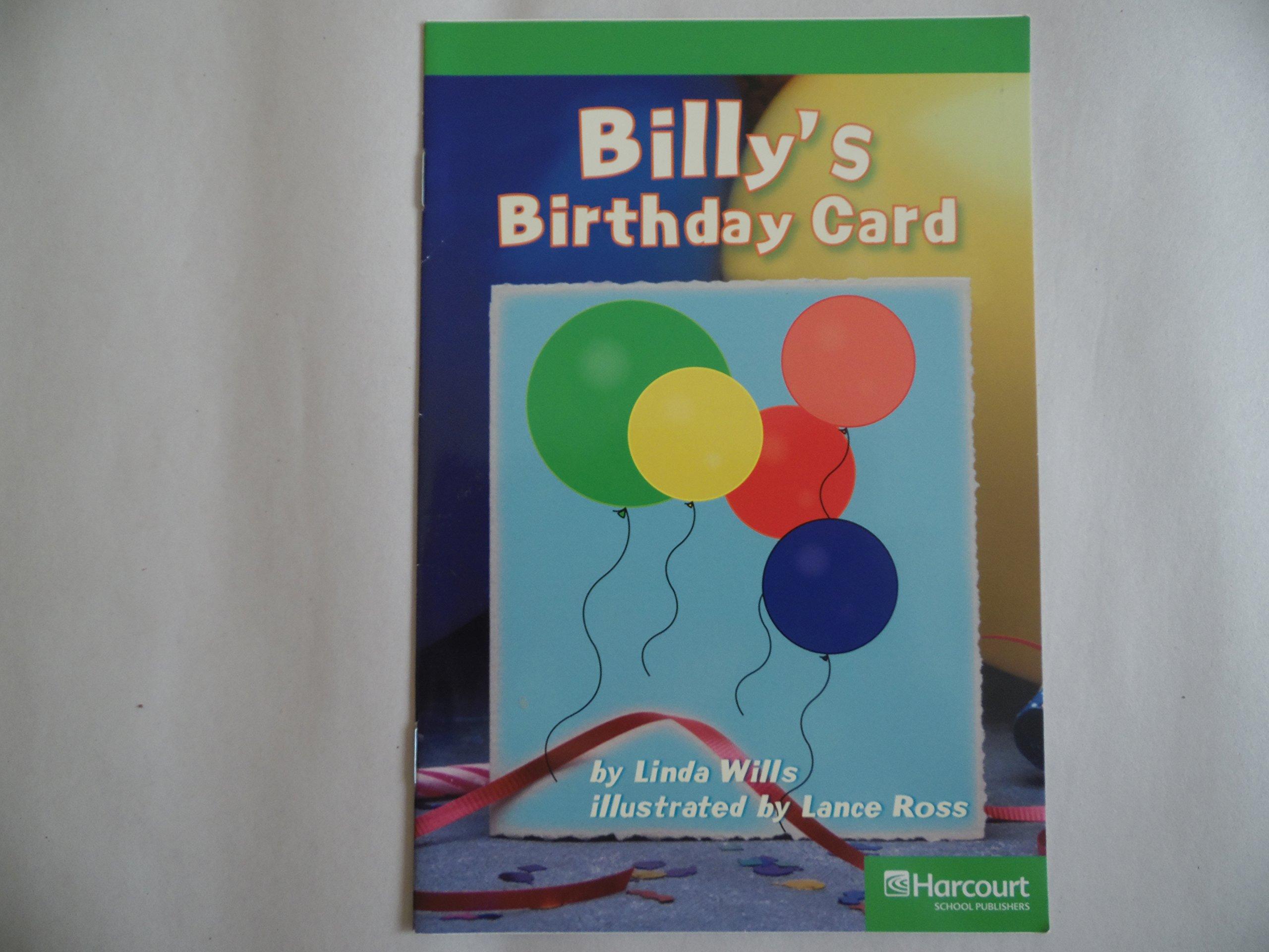 Billy's B-Day Card, Advanced Reader Grade 1: Harcourt School Publishers Storytown (Rdg Prgm 08/09/10 Wt) PDF