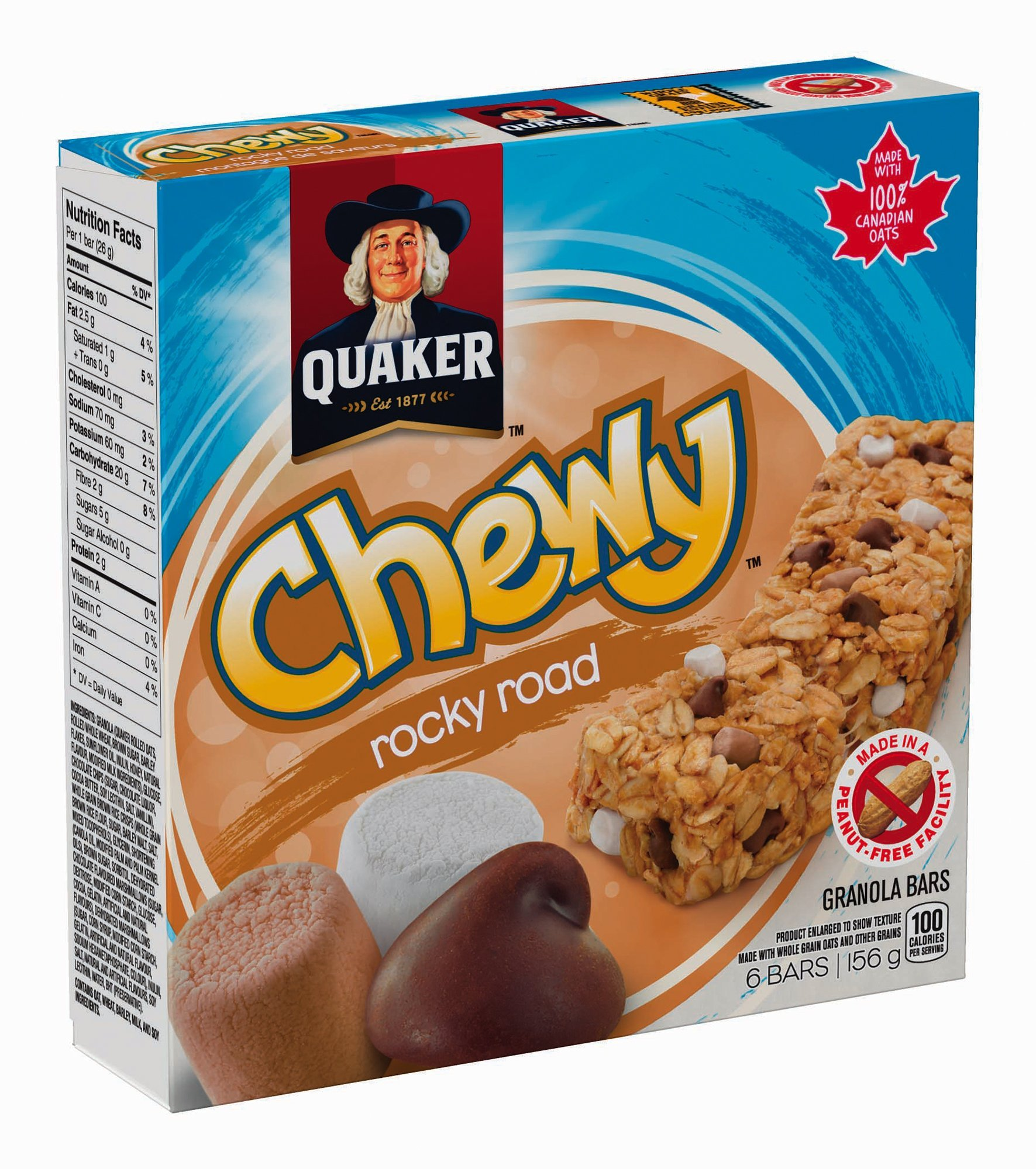 Quaker Chewy Rocky Road 6 Bar Pack (Pack of 12) {Imported from Canada}