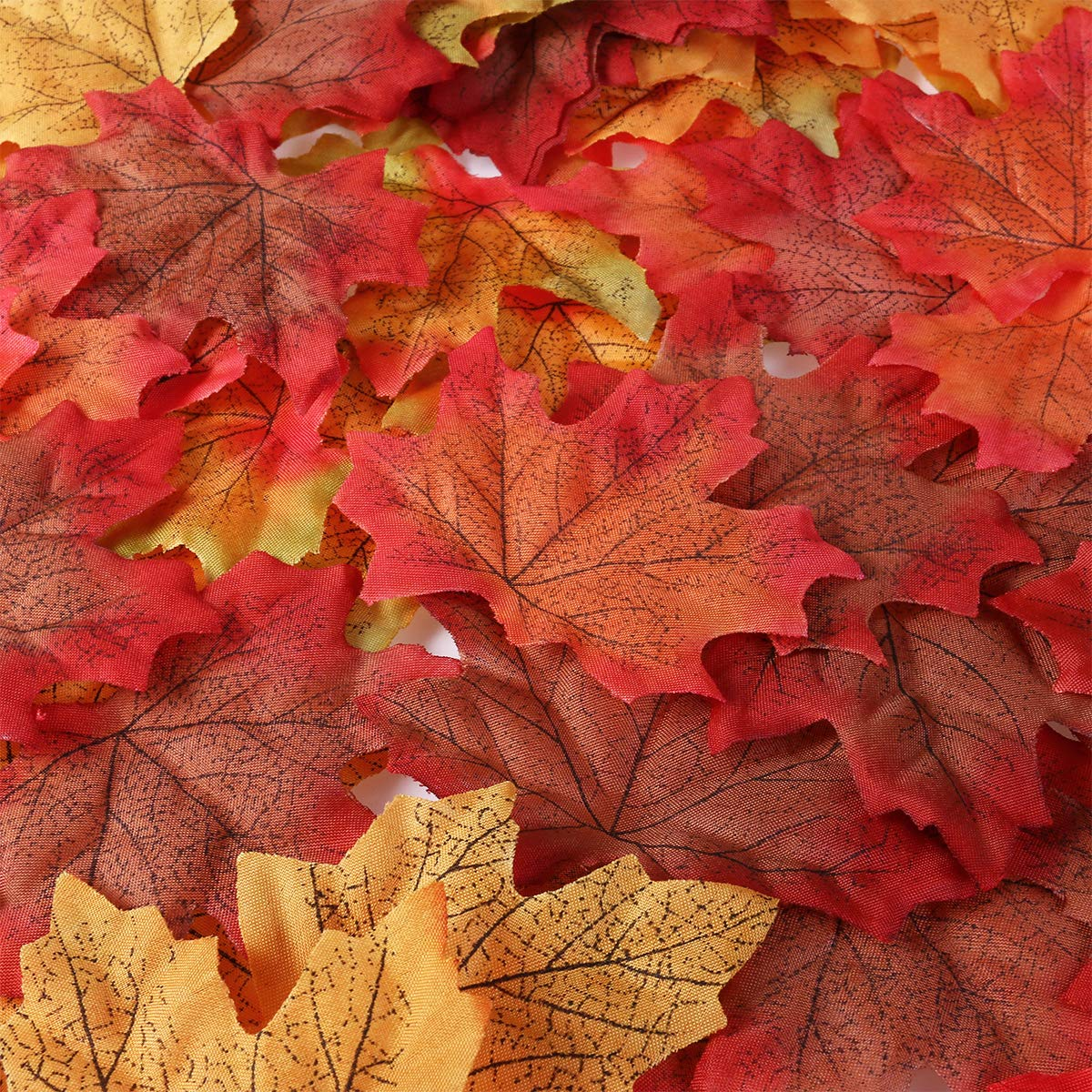 Unomor 190Assortiti Artificiale Maple Leaves in 2Misure Thanksgiving Day & Wedding Decorations