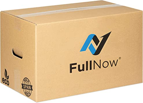 FULLNOW Pack 10 Cajas Cartón Grandes con Asas para Mudanza y Almacenaje Ultraresistentes, 500x300x300mm, Fabricadas en España, Canal Doble 5mm: Amazon.es: Bricolaje y herramientas