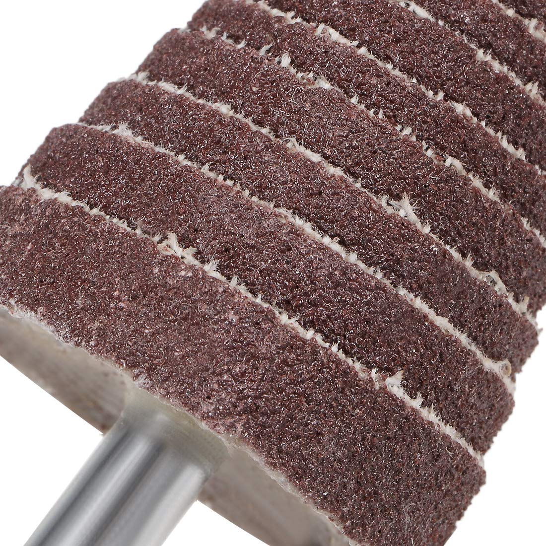 Sanding polishing 120 Grains 10 Pieces 1//8 inch Shank for deburring 30mm Cone-Shaped Abrasive fin Wheel