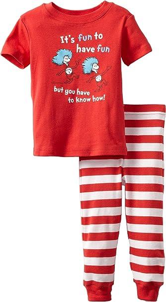 Seuss Thing 1 Short Sleeve Tee Bumkins Unisex-baby Infant Dr