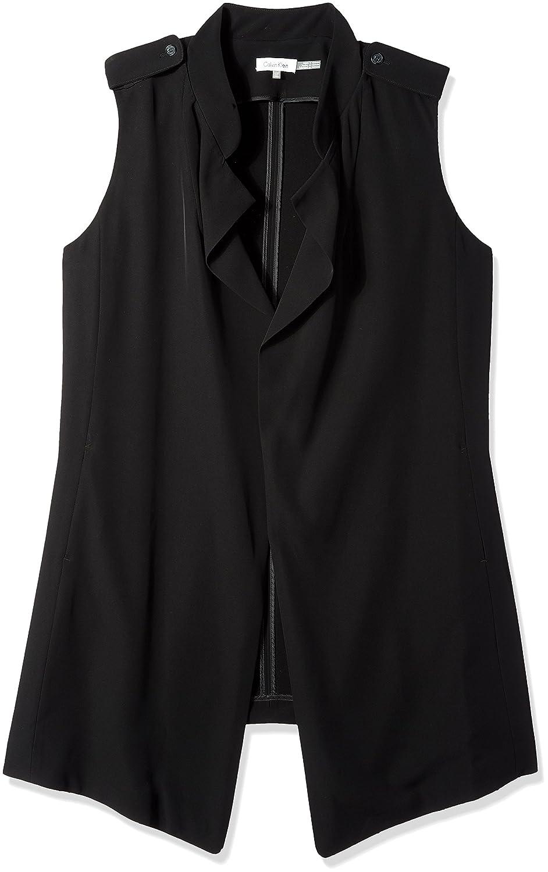 Calvin Klein Women's Plus Size Soft Flyaway Vest W7BT1180