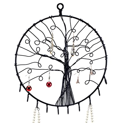 Amazon Com My T Wall Hanging Round Metal Tree Silhouette Design