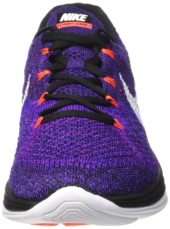 1f229ef3f89 Amazon.com | Nike Mens Flyknit Lunar3 Running Shoe(Black/White-Concord-Vivid  Purple, 10) | Running