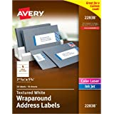 Avery Textured White Wraparound Labels, White, 7.85 x 1.75 Inches, Pack of 50 (22838)