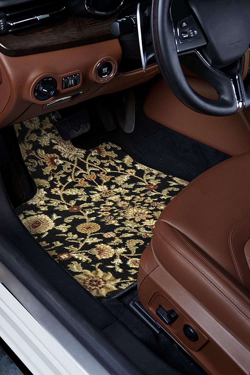 Polypropylene Fiber GG Bailey D2621A-F1A-BK-OR Front Set Custom Fit Floor Mats for Select Jaguar XJ Models Black Oriental