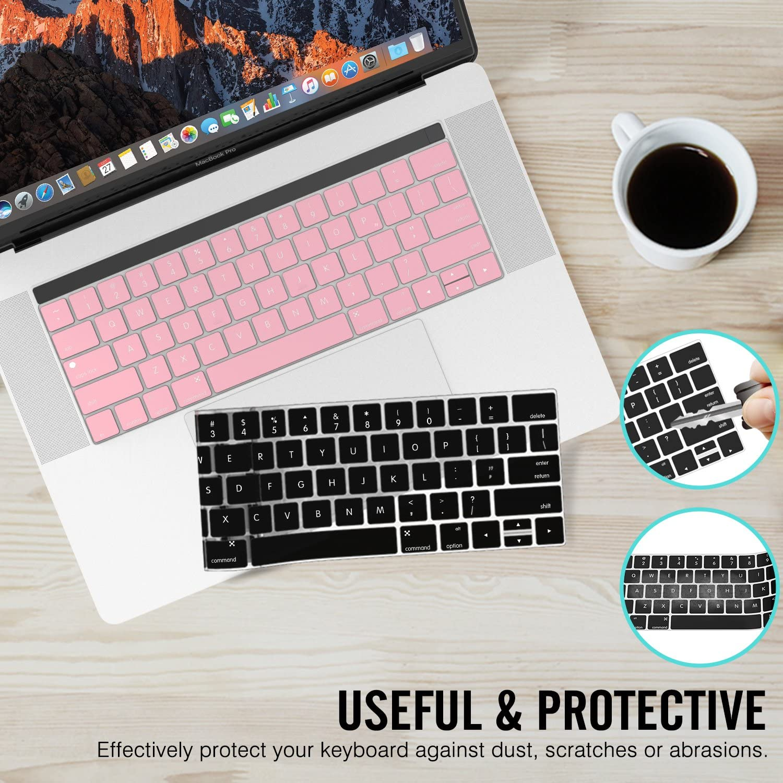 MoKo Macbook Pro 13/15 Cubierta del Teclado [2-PZS] Suave Silicona Keyboard Protector para Newest MacBook Pro 13