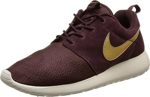 the latest 33829 289d9 Nike Mens Roshe One Suede, MAHOGANYMETALLIC GOLD-LIGHT BONE, 9.5 M