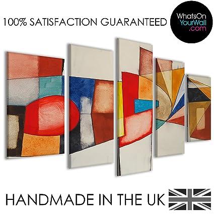 5 Panel lienzo de enmarcado - en la pared - Alta calidad - 100% de ...