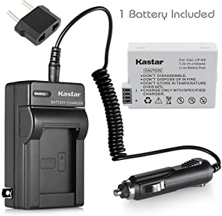 Kastar Battery (1-Pack) and Charger Kit for Canon LP-E8, LPE8, LC-E8E work with Canon EOS 550D, EOS 600D, EOS 700D, EOS Rebel T2i, EOS Rebel T3i, EOS Rebel T4i, EOS Rebel T5i Cameras and BG-E8 Grip