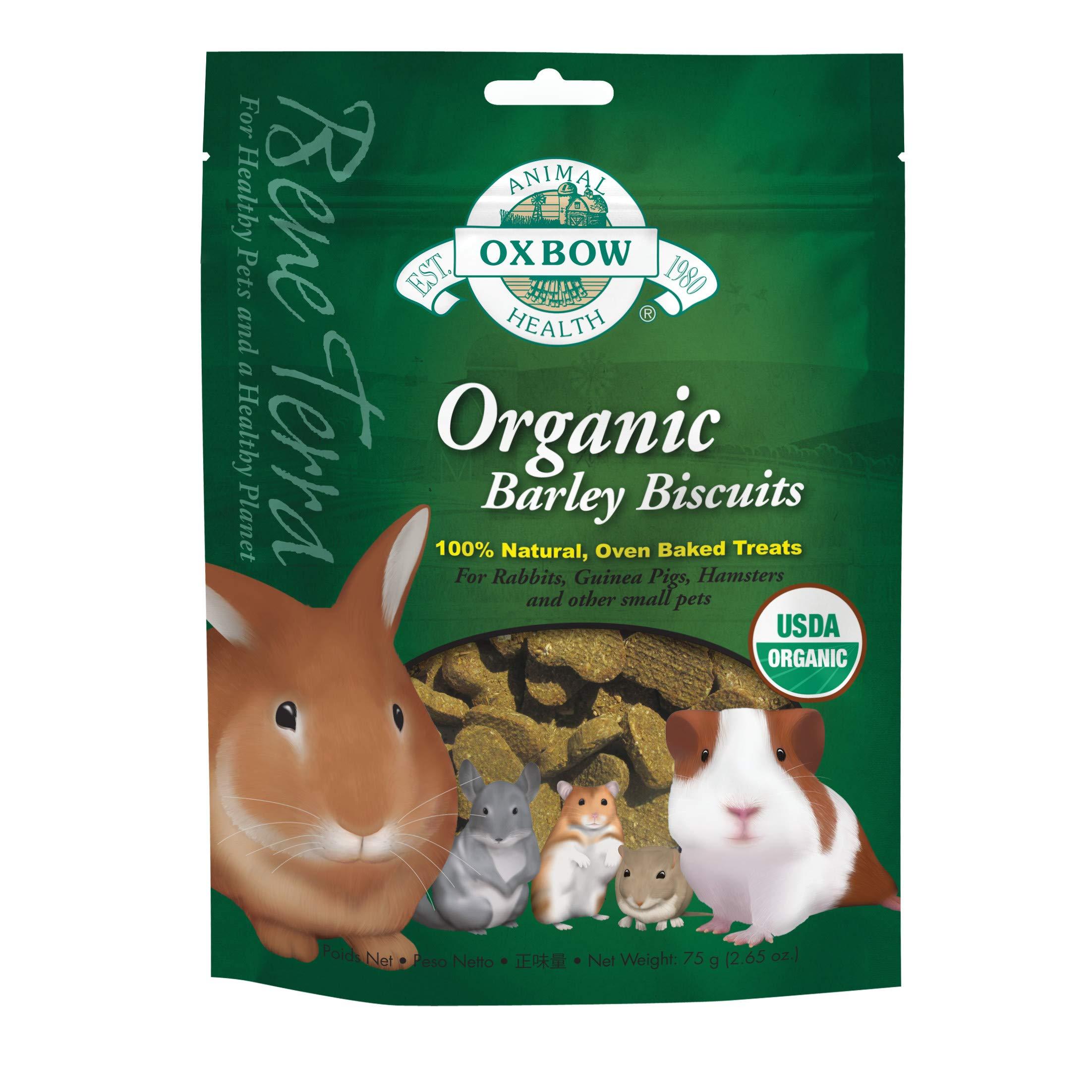 Oxbow Animal Health Barley Biscuits Bene Terra Organic Food And Treats, 2.65-Ounce, Green