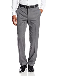 Haggar Mens Travel Performance Mini Tic Tailored Fit Flat Front Suit Separate Pant