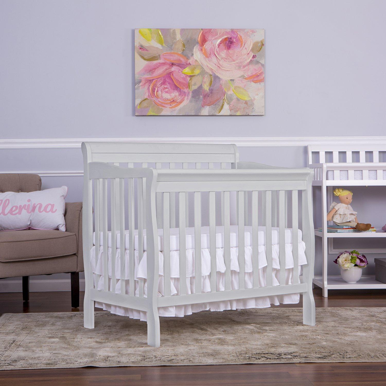 Dream On Me Aden Convertible 4 In 1 Mini Crib Grey 628 G