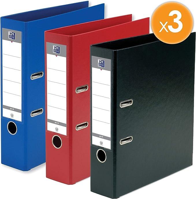 Oxford – Lote de 3 archivadores de palanca Smart formato A4 + lomo ...