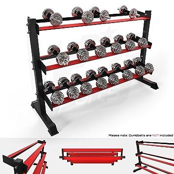 We R sports® 3 Nivel Pesado Deber Gimnasio Dumbbell accesorio de soporte para mancuernas de goma hexagonal para 10 pares: Amazon.es: Deportes y aire libre