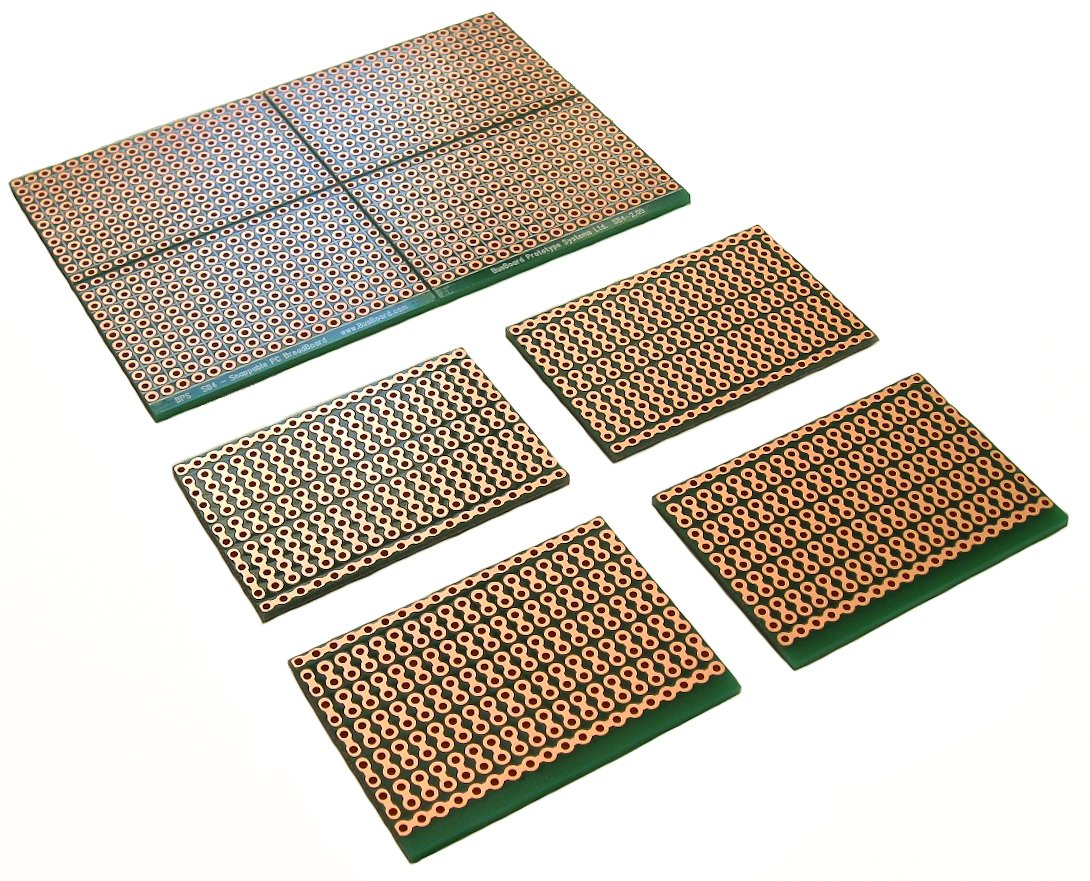 Sb4 Snappable Pc Breadboard Scored Pcb Snaps Into 4 Small Boards 10 Pcs 50mmx70mm Single Side Copper Cover Circuit Board Stripboard 2 Layer Plated Holes Power Rails 25 X 38in 635 965mm Industrial
