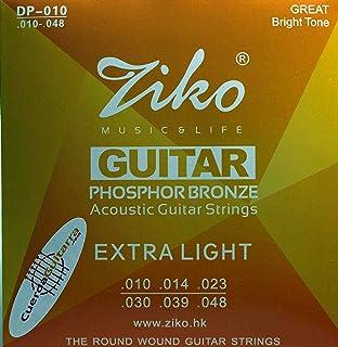 2 Juegos de cuerdas ZIKO DUS-010 para Guitarra Acústica Calibre ...