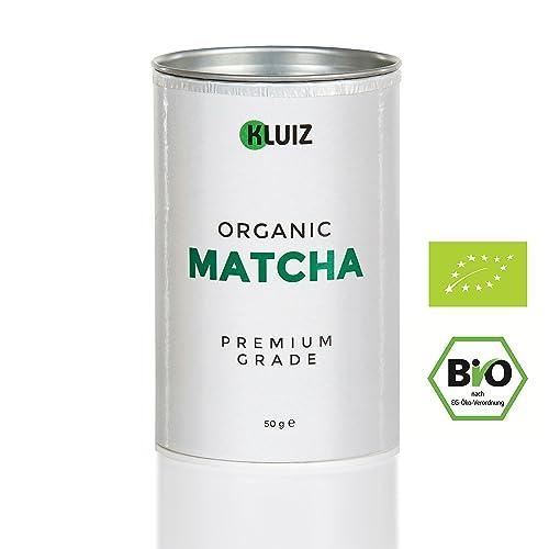 BIO Matcha Pulver [Premium Grade]   Dein Koffein Booster für volle Konzentration   Original Bio Grüntee Pulver für Matcha Tee, Matcha Latte oder Matcha Smootie