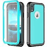 iPhone XRケースVapesoon 6.1インチ 耐衝撃 防塵 超薄型 軽量 傷·落下衝撃吸収 レンズ保護 操作便利 脱着簡単 [米軍MIL規格](青 ブルー)