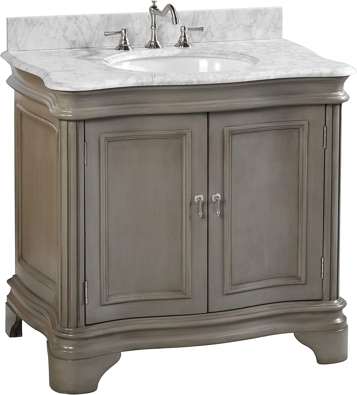 36 inch gray bathroom vanity