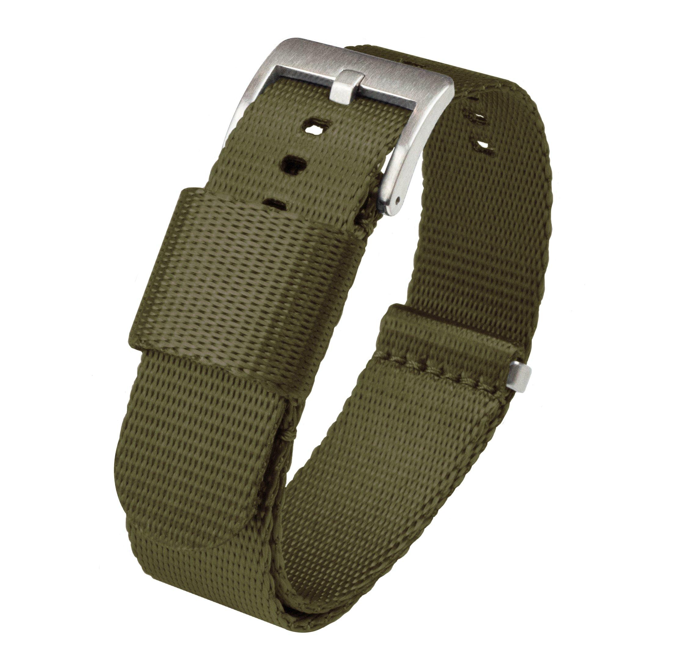 Barton Jetson NATO Style Watch Strap - 18mm 20mm 22mm or 24mm - Seat Belt Nylon Watch Bands