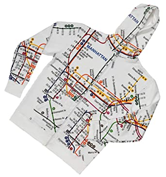 Real Subway Map Nyc.Amazon Com Nyc Subway Line Men S Big White Map Hoodie Clothing