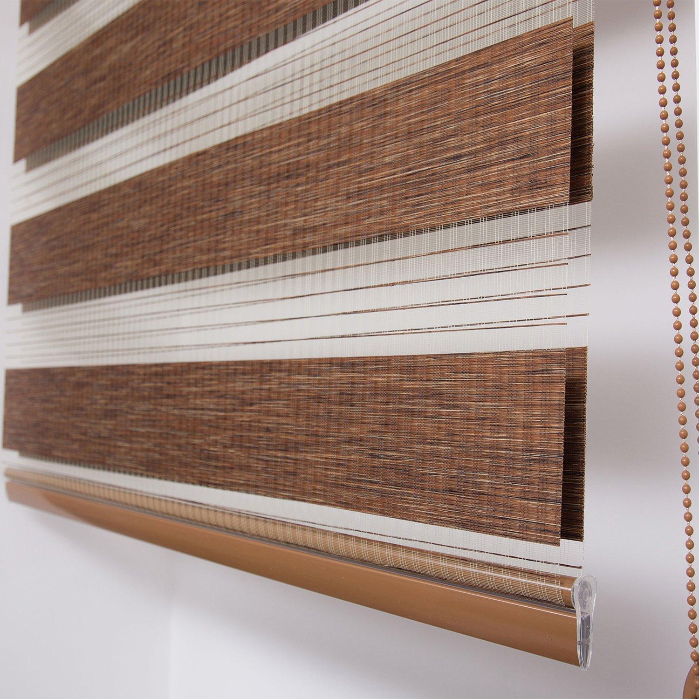 Upscale Designs 20225 Zebra Roller Blind//Shade 42 W x 78 L Shimmering Earth Tones
