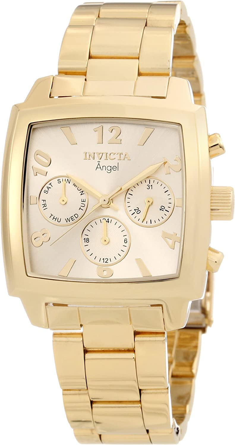 Invicta Women s 12101 Angel Gold Dial 18k Gold Ion-Plated Stainless Steel Watch