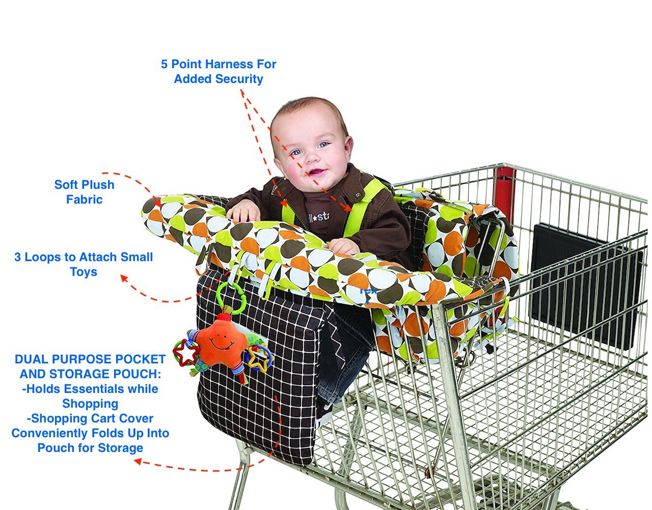 Amazon Jeep 2 In 1 Shopping Cart Cover High Chair Cover High