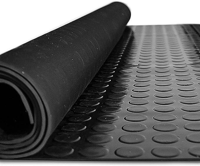 ANRO Gummimatte Schutzmatte Noppenmatte Bodenmatte mit Noppen Gummil/äufer 120cm Breit 3mm stark Schwarz 320 x 120cm