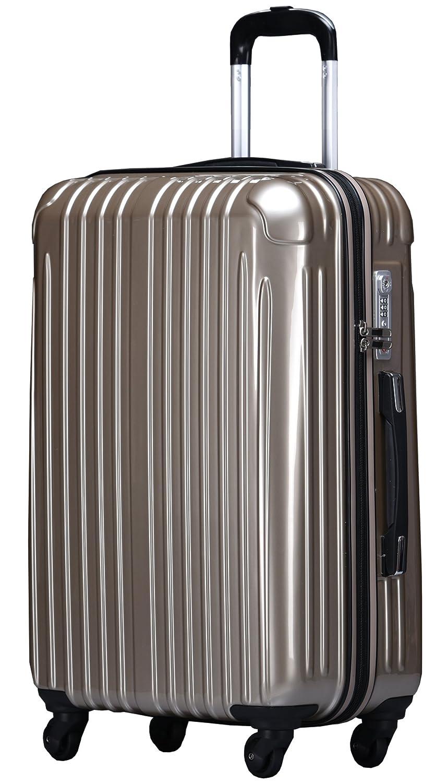 ラッキーパンダ スーツケース TY001 ハード 超軽量 TSAロック ファスナータイプ 機内持込 B01AA20QBU Mサイズ(4~6日の旅行向け)|シャンパンゴールド シャンパンゴールド Mサイズ(4~6日の旅行向け)