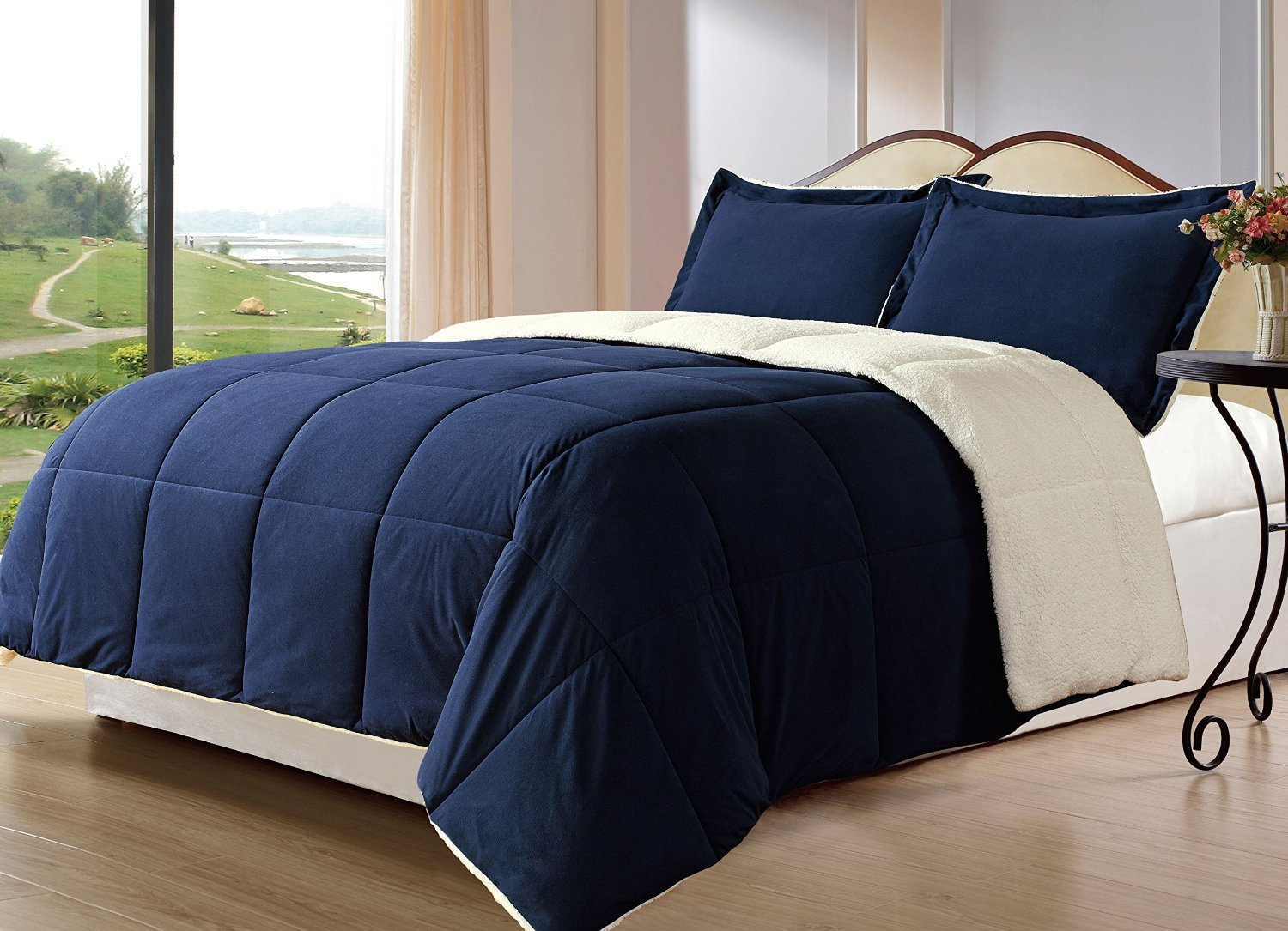 Reversible comforter sets ease bedding with style - Bedroom sheets and comforter sets ...