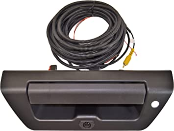 Tailgate Handle with Reverse Backup Camera Hole Manual Type Textured Black