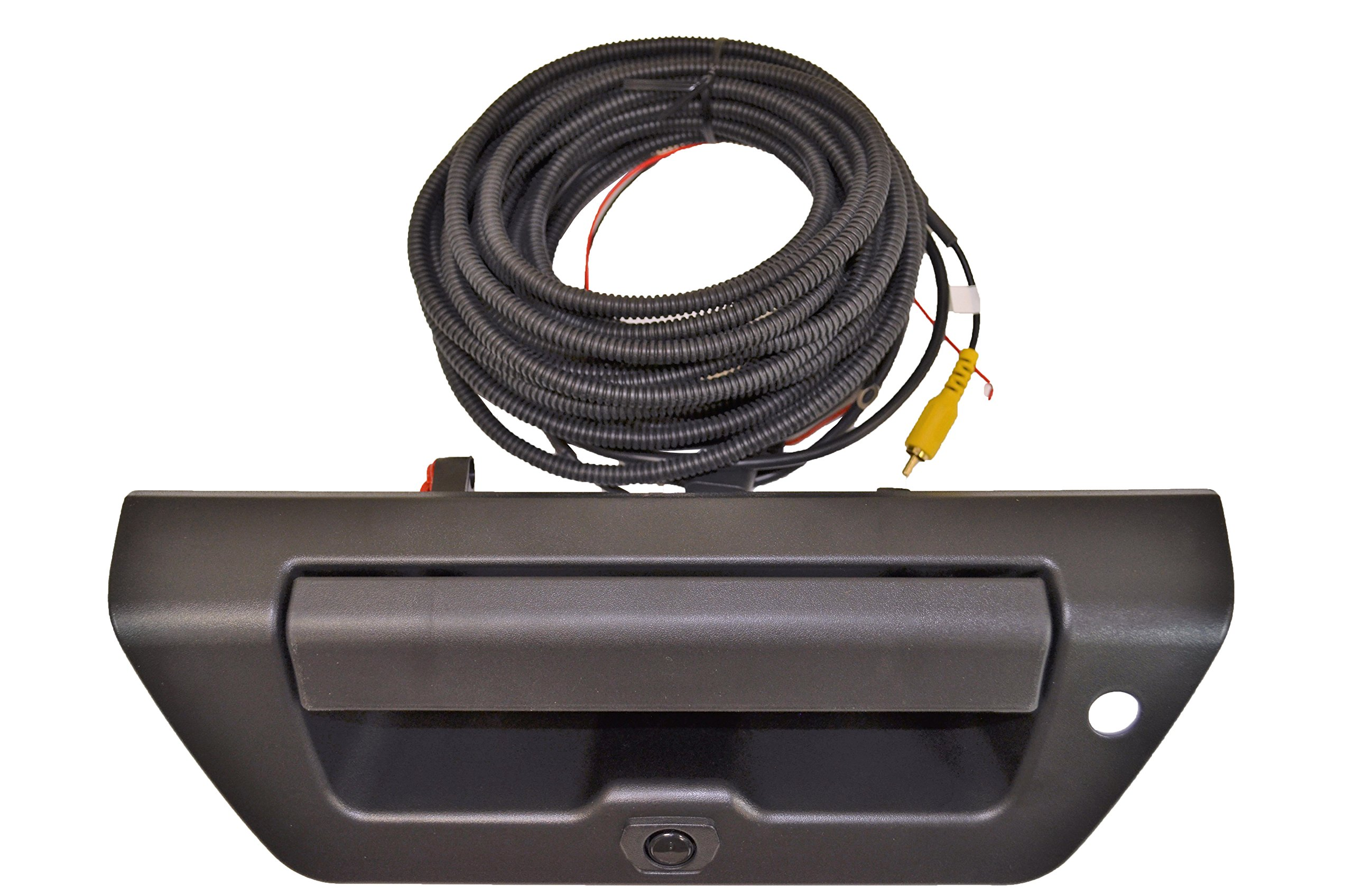 PT Auto Warehouse FO-3515A-TGCX - Tailgate Handle with Backup Camera, Textured Black Housing and Lever - with Keyhole Hole, for Manual Tailgate by PT Auto Warehouse